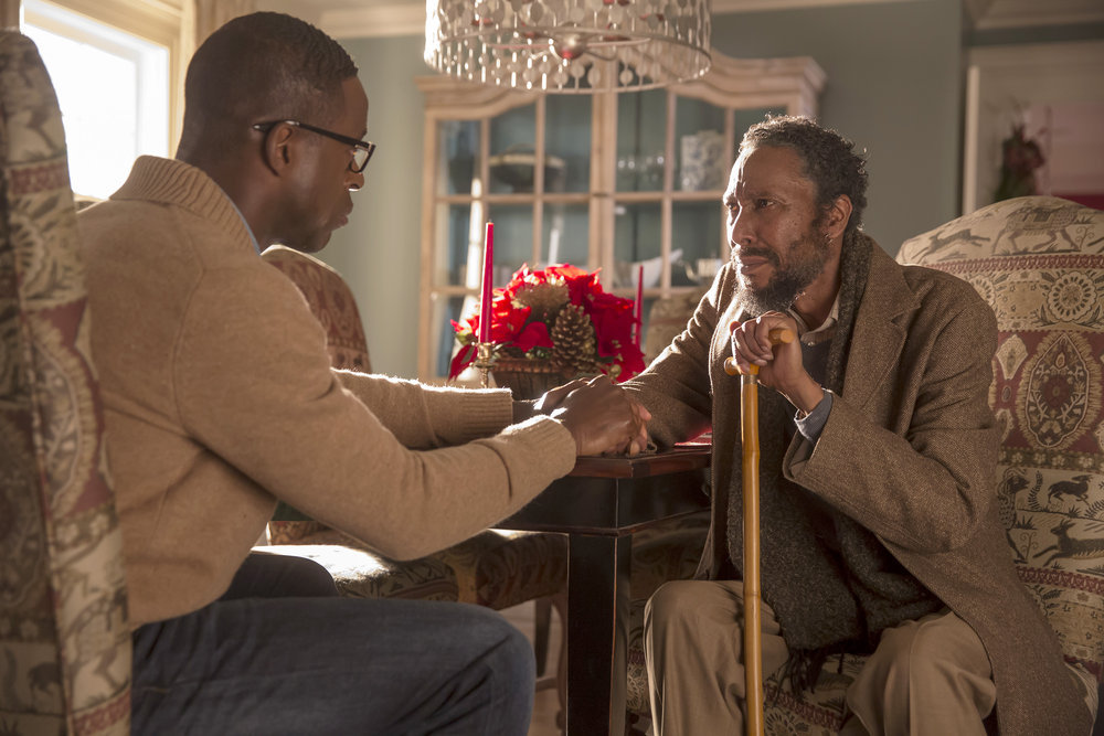 Image result for this is us stills ron cephas sterling k. brown