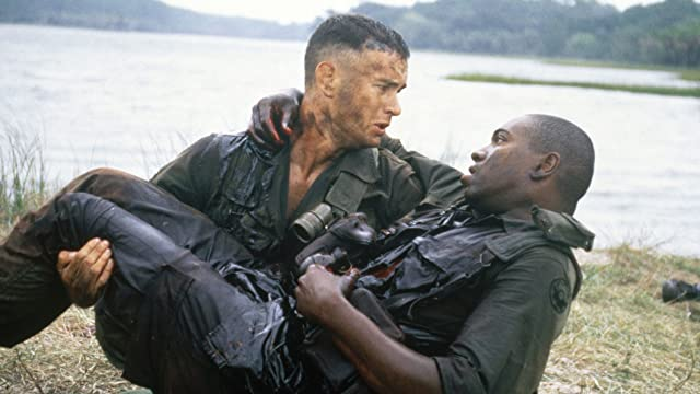 Tom Hanks and Mykelti Williamson in Forrest Gump (1994)