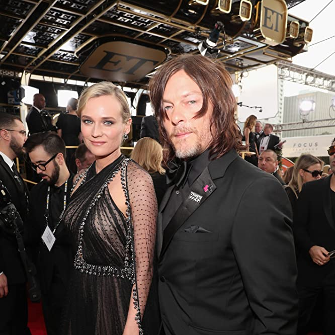 Norman Reedus and Diane Kruger at an event for The 75th Golden Globe Awards (2018)