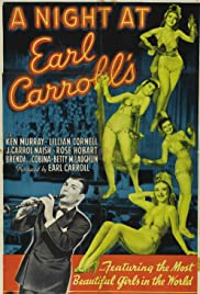 A Night at Earl Carroll's Poster