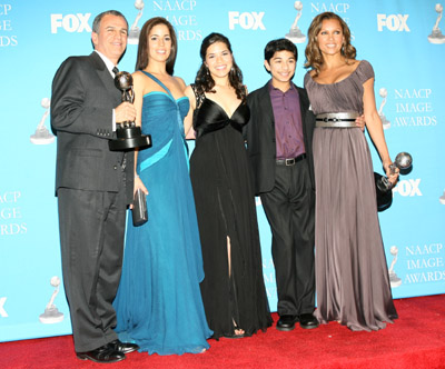 Vanessa Williams, Ana Ortiz, Tony Plana, America Ferrera, and Mark Indelicato at Ugly Betty (2006)