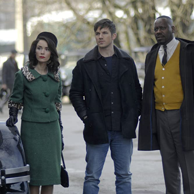Malcolm Barrett, Abigail Spencer, and Matt Lanter in Timeless (2016)