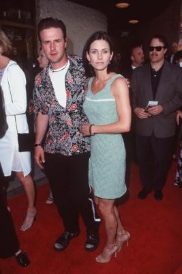 David Arquette and Courteney Cox at The Truman Show (1998)