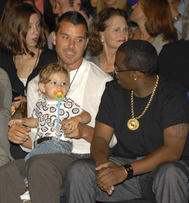 Sean Combs, Gavin Rossdale, and Kingston Rossdale