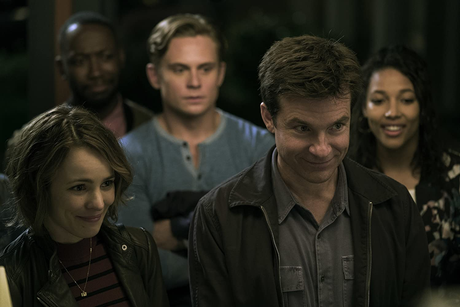 Jason Bateman, Rachel McAdams, Lamorne Morris, Billy Magnussen, and Kylie Bunbury in Game Night (2018)
