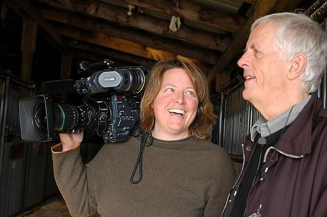 Shana Hagan, DP, and Director Michael Apted shooting