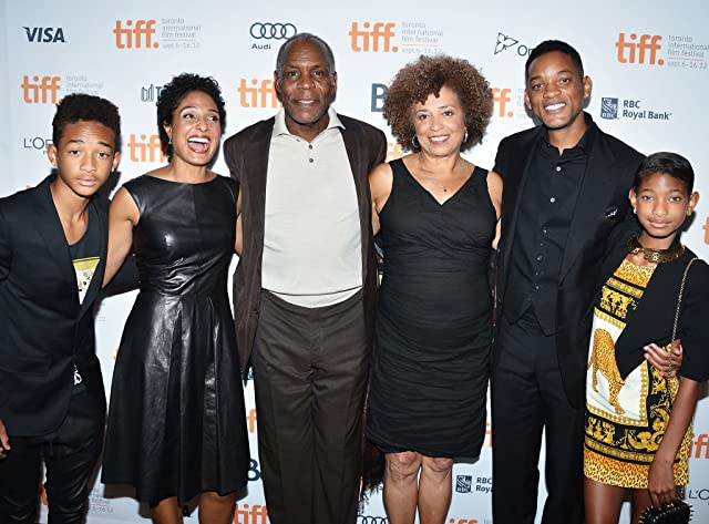 Will Smith, Danny Glover, Angela Davis, Shola Lynch, Jaden Smith, and Willow Smith at Free Angela and All Political Prisoners (2012)