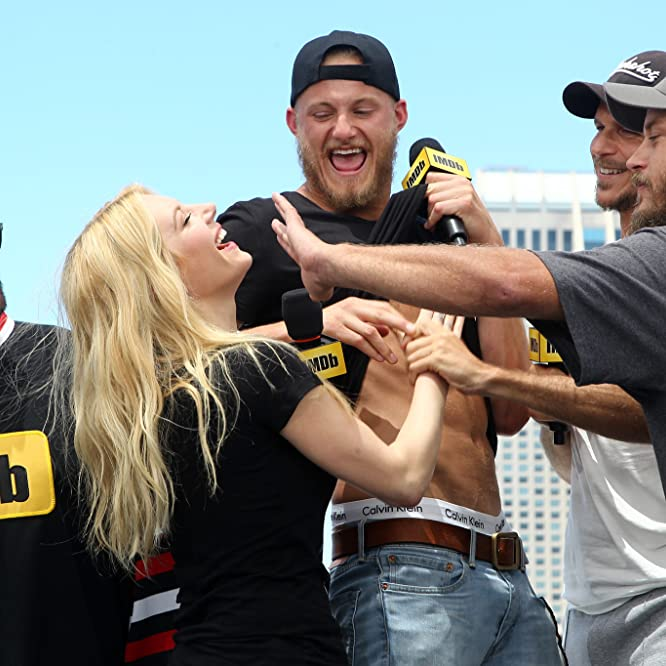 Kevin Smith, Gustaf Skarsgård, Katheryn Winnick, Travis Fimmel, and Alexander Ludwig at an event for IMDb at San Diego Comic-Con (2016)