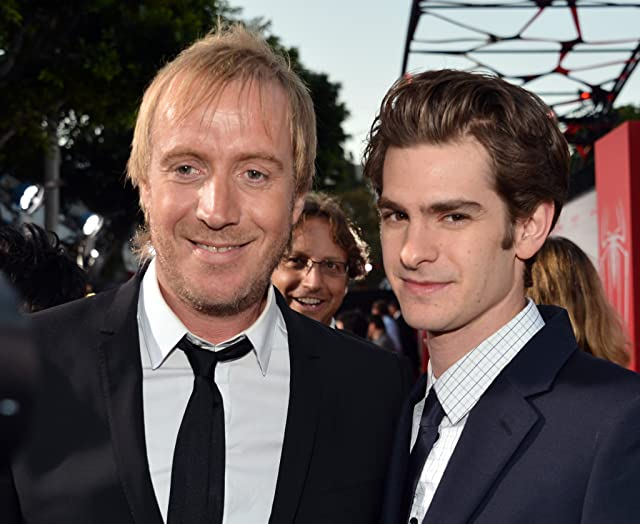 Rhys Ifans and Andrew Garfield at The Amazing Spider-Man (2012)