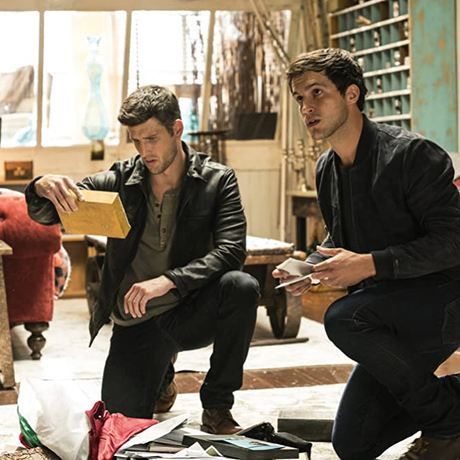 Parker Young and Rob Heaps in Imposters (2017)
