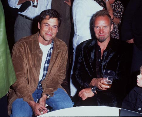 Rob Lowe and Sting