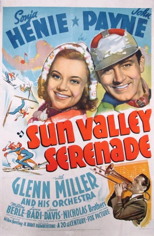 Glenn Miller, Sonja Henie, and John Payne in Sun Valley Serenade (1941)