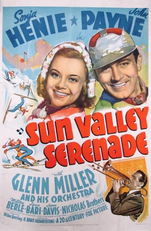 Glenn Miller, Sonja Henie, and John Payne in Sun Valley Serenade (1941)
