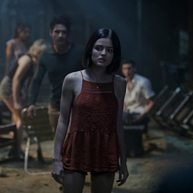 Tyler Posey and Lucy Hale in Truth or Dare (2018)