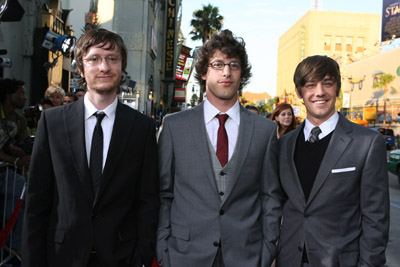 Jorma Taccone, Andy Samberg, and Akiva Schaffer at Hot Rod (2007)
