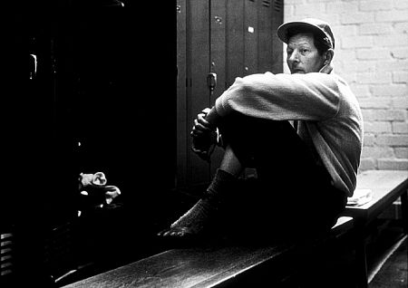 Danny Kaye in the locker room of the Hillcrest Country Club, 1958.