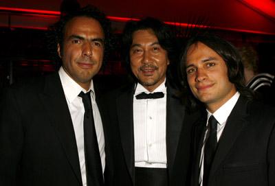 Gael García Bernal, Alejandro G. Iñárritu, and Kôji Yakusho at Babel (2006)