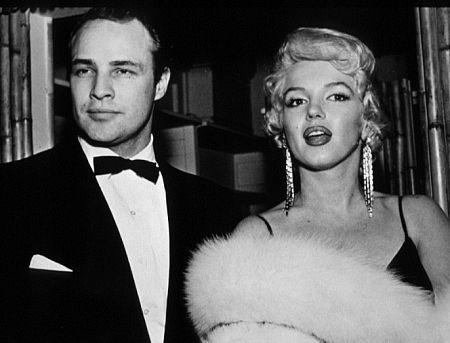 M. Monroe & Marlon Brando. c. 1953