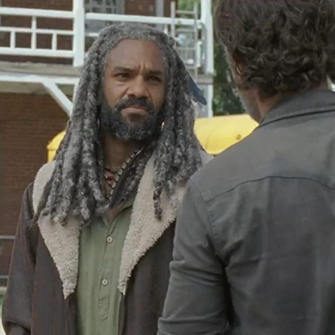 Andrew Lincoln and Khary Payton at an event for The Walking Dead (2010)