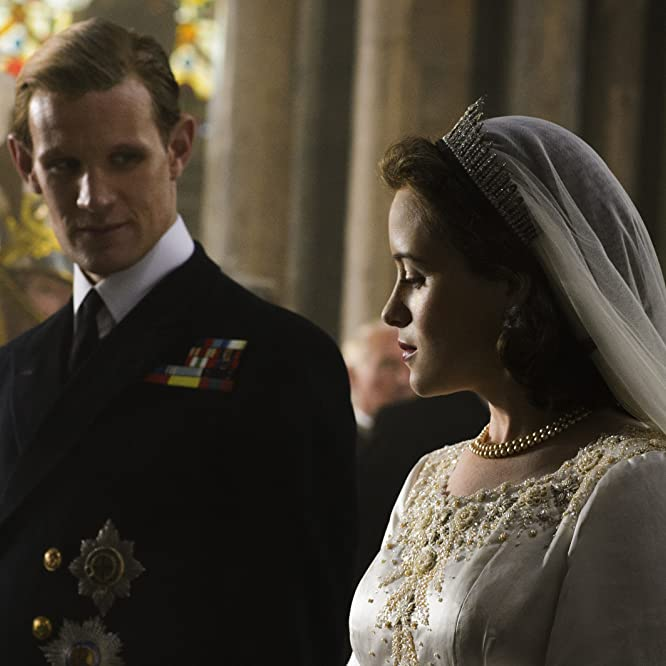 Matt Smith and Claire Foy in The Crown (2016)