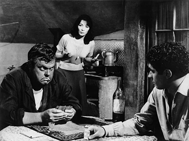 Orson Welles, Bradford Dillman, and Juliette Gréco in Crack in the Mirror (1960)