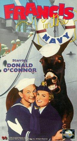 Martha Hyer and Francis the Talking Mule in Francis in the Navy (1955)