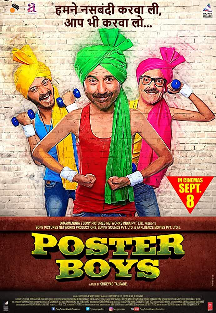 Poster Poster Boys 2017 Full Hindi Movie Download Free 720p