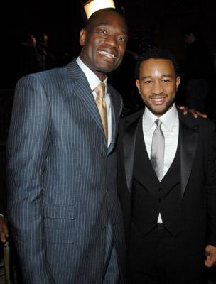 Dikembe Mutombo and John Legend