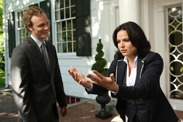 Lana Parrilla and David Anders in Once Upon a Time (2011)