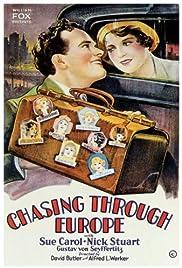 Chasing Through Europe Poster