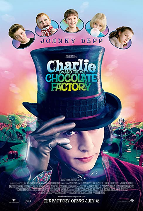 Image result for charlie and the chocolate factory poster