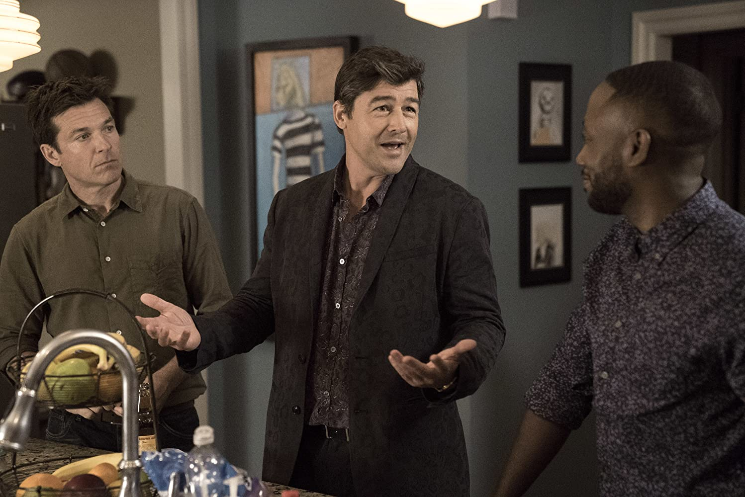 Jason Bateman, Kyle Chandler, and Lamorne Morris in Game Night (2018)