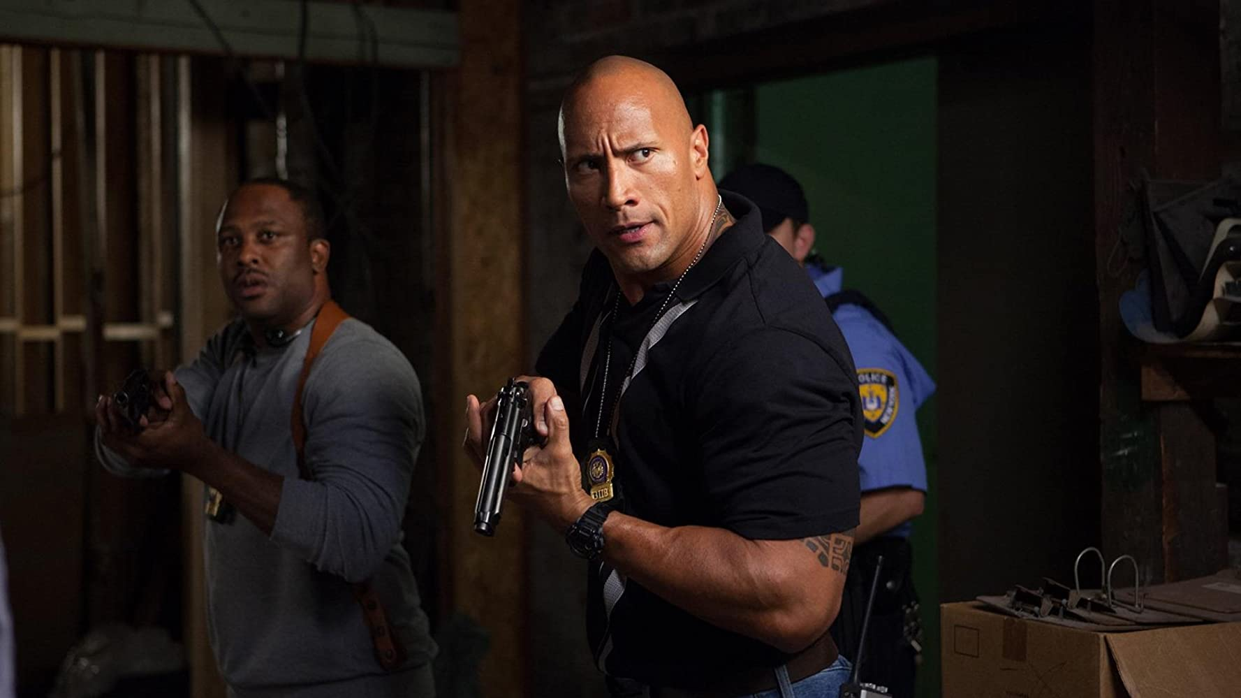 Dwayne Johnson and Lucky Johnson in Empire State (2013)