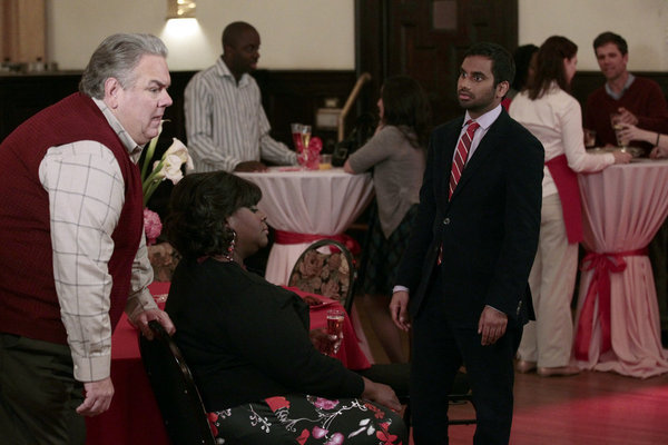 Jim O'Heir, Retta, and Aziz Ansari in Parks and Recreation (2009)
