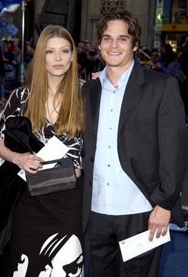 Amber Benson and Greg Rikaart at X-Men 2 (2003)