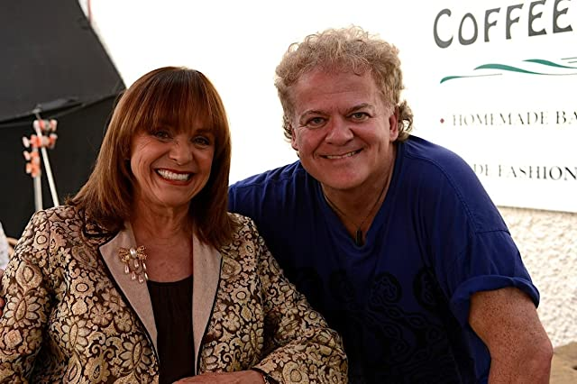Valerie Harper and director David Winning on set. Langley, B.C., Canada. August 2013