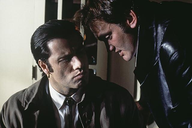 Quentin Tarantino and John Travolta at Pulp Fiction (1994)