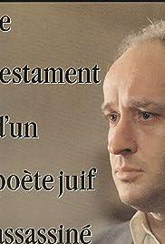 Le testament d'un poète juif assassiné Poster
