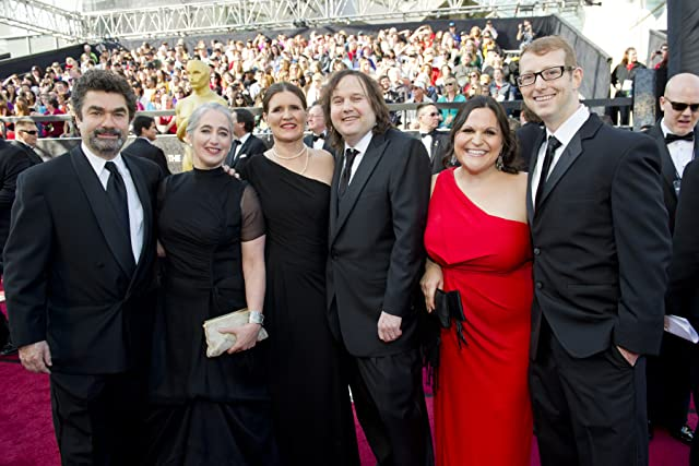 Joe Berlinger and Bruce Sinofsky, the Paradise Lost Trilogy filmmakers, attend the 2012 Academy Awards with their wives and Jason Baldwin, one of the three freed West Memphis Three.