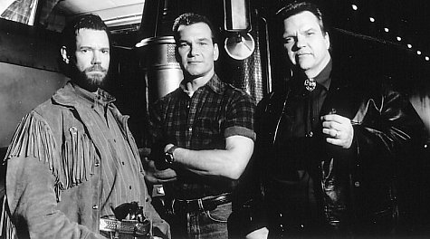 Patrick Swayze, Meat Loaf, and Randy Travis in Black Dog (1998)