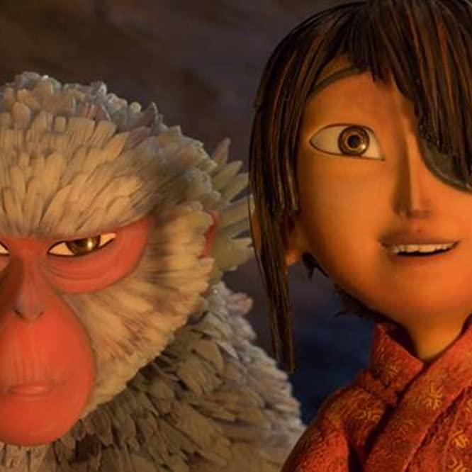 Charlize Theron and Art Parkinson in Kubo and the Two Strings (2016)