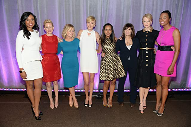 Nicole Kidman, Charlize Theron, Elizabeth Banks, Amy Poehler, Aisha Tyler, Kerry Washington, Amy Pascal, and Jennifer Hudson