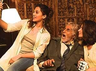 Amitabh Bachchan, Tapsee Pannu, and Kirti Kulhari in Pink (2016)