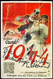 1914, die letzten Tage vor dem Weltbrand Poster