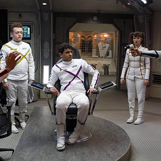 Joel Hodgson, Bess Rous, Milana Vayntrub, Neil Casey, Eugene Cordero, and Karan Soni in Other Space (2015)