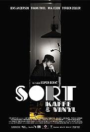 Sort kaffe & vinyl Poster