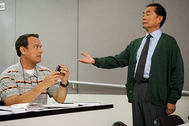 Tom Hanks and George Takei in Larry Crowne (2011)