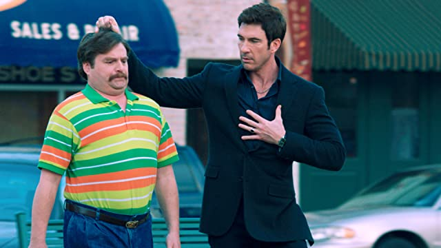 Dylan McDermott and Zach Galifianakis in The Campaign (2012)
