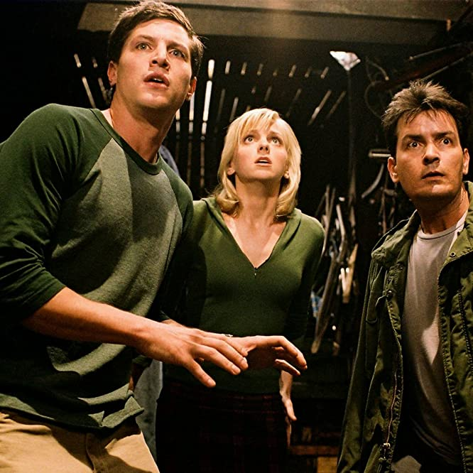 Charlie Sheen, Simon Rex, and Anna Faris in Scary Movie 3 (2003)