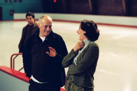 Behind-the-scenes L-R: Trevor Blumas (b.g.), Director Tim Fywell, Joan Cusack.